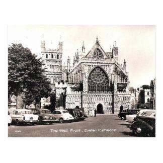 Cartão velho - catedral de Exeter