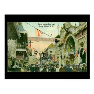 Cartão velho - Coney Island, Nova Iorque