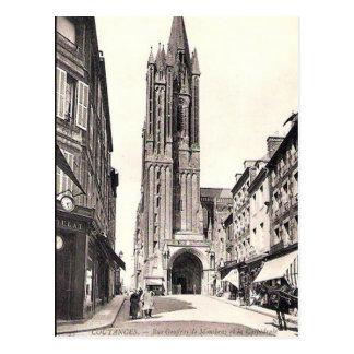 Cartão velho - Coutances, Mancha Cartão Postal