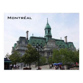 Cartão velho da cidade de Montreal
