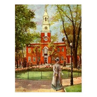 Cartão velho da cidade de Philadelphfia