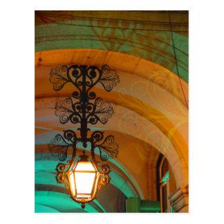Cartão velho da lâmpada de Lisboa
