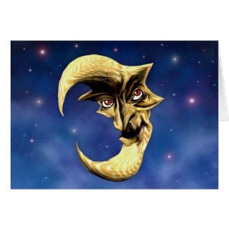 Cartão velho da lua do diabo