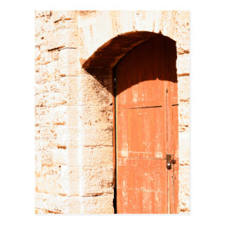 Cartão velho da porta do arco