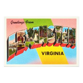 Cartão velho das viagens vintage de Lexington Impressão De Foto