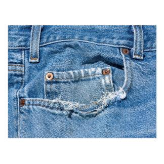 Cartão velho de jeans cartão postal