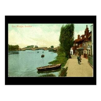 Cartão velho de Londres - ponte de Kew em 1921