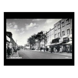 Cartão velho de Londres - rua verde, presunto do