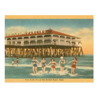Cartão velho do cano principal da praia do pomar