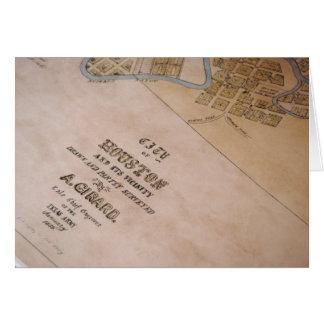 Cartão velho do mapa de Houston