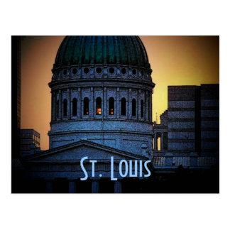 Cartão velho do tribunal de St Louis