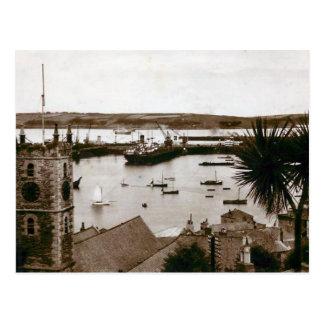 Cartão velho - docas, Falmouth, Cornualha