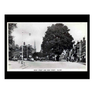 Cartão velho, Ealing, rua bond e rua alta