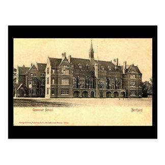Cartão velho, escola secundária de Bedford