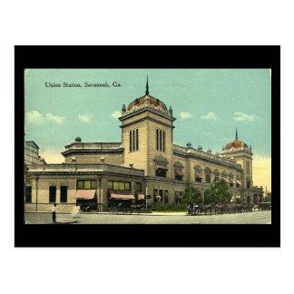 Cartão velho, estação da união, savana, Geórgia