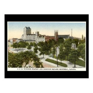 Cartão velho, estação de Montreal, Windsor