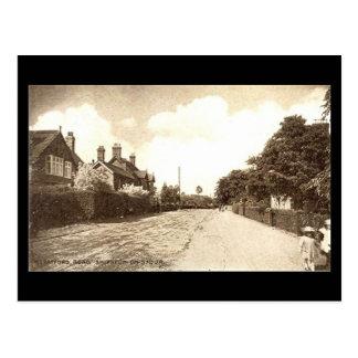 Cartão velho, estrada de Stratford,