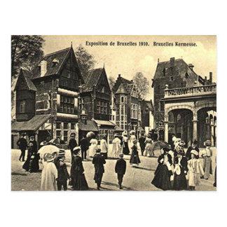 Cartão velho - expo 1910 de Bruxelas