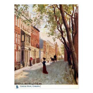Cartão velho - fileira de Cheyne, Chelsea