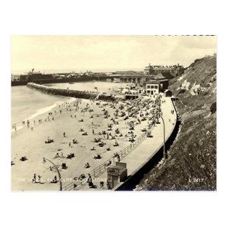 Cartão velho - Folkestone, as areias