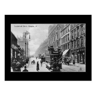 Cartão velho, Glasgow, rua de Sauchiehall