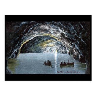 Cartão velho - gruta azul, Capri, Italia