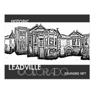Cartão velho histórico da cidade de Leadville