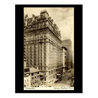 Cartão velho - hotel de Bellevue Stratford,