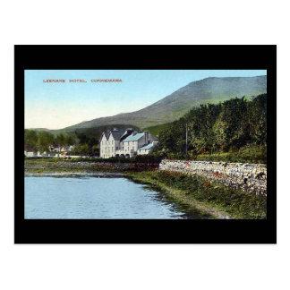 Cartão velho - hotel de Leenane, Connemara,