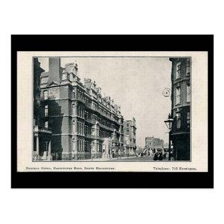 Cartão velho - hotel de Norfolk, Kensington sul,
