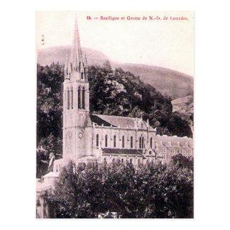 Cartão velho - La Basilique, Lourdes