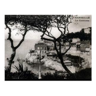 Cartão velho - La Corniche, Marselha