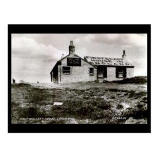 Cartão velho - Land's End, Cornualha