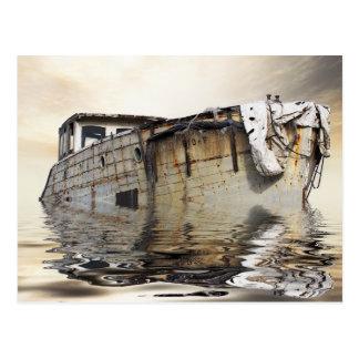cartão velho legal do barco