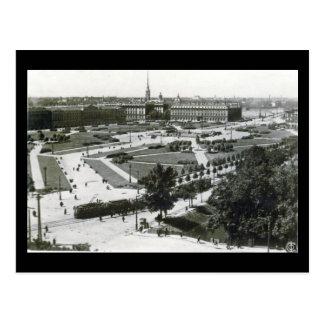 Cartão velho - Leninegrado, quadrado das vítimas