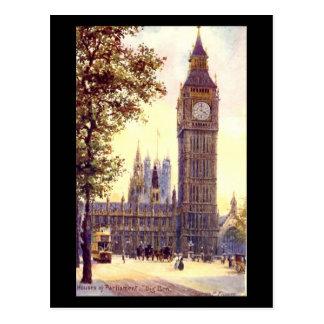 Cartão velho - Londres, Big Ben