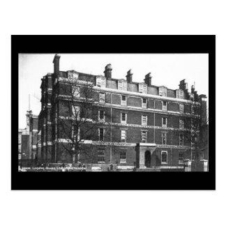 Cartão velho - Londres, hospital da rainha