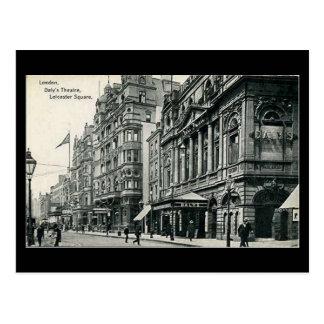 Cartão velho - Londres, o teatro do Daly,