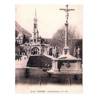 Cartão velho - Lourdes, bretão de Calvaire