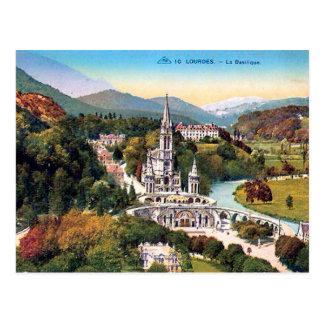 Cartão velho - Lourdes, La Basilique