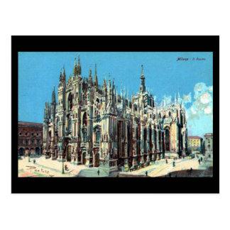 Cartão velho - Milão, domo