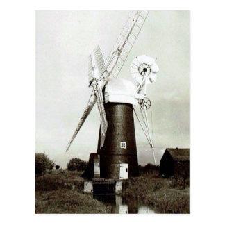 Cartão velho - moinho de vento de Norfolk