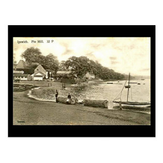 Cartão velho - moinho do Pin, Ipswich, Suffolk