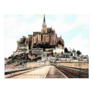 Cartão velho - Mont-Rua-Michel, Mancha, Normandie Cartão Postal