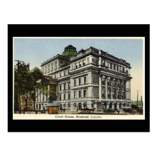 Cartão velho, Montreal, o tribunal