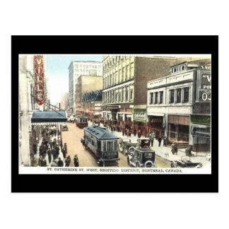 Cartão velho, Montreal, rua de Catherine da rua