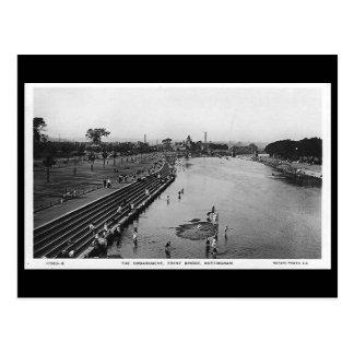 Cartão velho - Nottingham, ponte de Trent