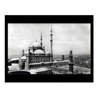 Cartão velho - o Cairo, a citadela