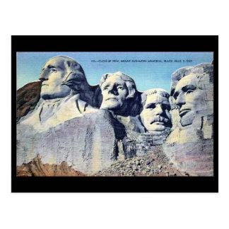 Cartão velho - o Monte Rushmore, South Dakota