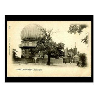 Cartão velho - obervatório real, Greenwich
